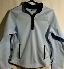 Aspire Womens Size Medium Light Blue Yoga Half Zip Jacket Athletic Athleisure