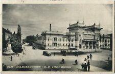 1932 Salsomaggiore - R.R. Terme Berzieri, automobile bicicletta - FP B/N VG ANIM