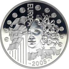 France 1,5 euro argent 2005 pp Europe série: 50 ans drapeau européen