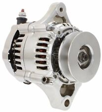 New 12 Volt 1 Wire Hookup CHROME Mini Alternator for Street Rod Denso 70 Amp