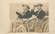 Amusement Auto Prop Men Photo Studio C-1910 Rppc real photo postcard 11