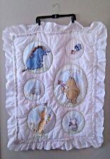 New listing Disney Classic Winnie the Pooh & Friends Crib Quilt Blanket Bedding Light Pink