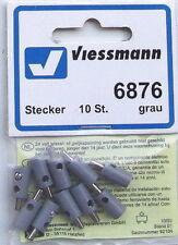Viessmann 6876 Bouchon de trou de croix gris, 10-pc # Neuf Emballage d'ORIGINE #