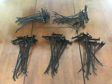 "10"" Gridwall Hooks for Grid Panel Display Wall Hangers - 50 Pcs. Box - Black"