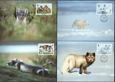 Arctic Fox Set Official WWF Finland Maxi Cards (4) FDC 1993