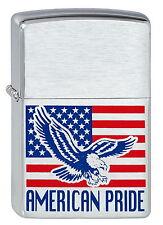 ZIPPO Feuerzeug AMERICAN PRIDE Adler US Flagge Eagle NEU OVP Sammlerstück!!