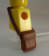 New Lego Reddish Brown Minifig, Messenger Bag - Civil War Map Case Pouch