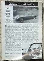 JAGUAR E TYPE COUPE Car Road Test Report 24 March 1961 AUTOCAR REPRINT #1813