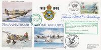 75/14c 75th Anniv of the RAF Flown  Jaguar 6 Sqn Signed Battle of Britain Pilot