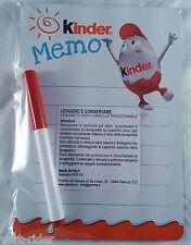 KINDER MEMO Whiteboard Stick-Stack lavagnetta cancellabile rimovibile new sealed