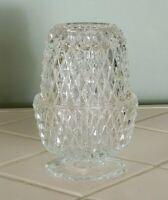 Fairy Light Angel Lamp Votive Indiana Glass Diamond Point Vintage  Dirty Dancing
