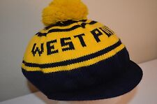 WEST POINT Go Army Military College VTG 70s 80s Winter Sports Knit POM CAP HAT
