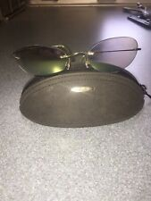 Silhouette M 8561 Sunglasses  Oval Rimless Titanium Temples Austria w/ Case