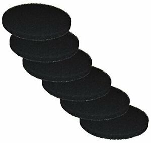 6 Carbon Impregnated Foam Pads for Fluval FX4 / FX5 / FX6 Canister Filter by Zan