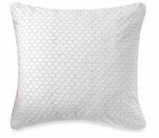 Barbara Barry Lace Crystal Eyelet 1 Euro Pillow Sham Glacier White