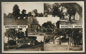 SACKETTS GROVE HOLIDAY PARK Jaywick Sands Clacton postcard