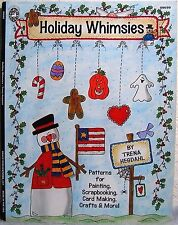 """""""Holiday Whimsies"""" Tole Painting+ Pattern Book-Fall, Halloween, Christmas, More!"""
