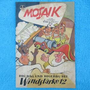 "MOSAIK Digedags Nr 2 ""Windstärke 12"" Hannes Hegen 1956 DDR"
