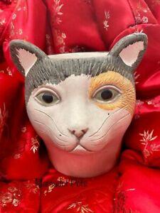 Cat Concrete Pot