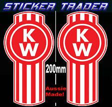 2 KENWORTH Truck Emblem Decals Stickers Suit Tipper Bullbar Bonnet Semi Trailer