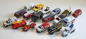 LM#070 18 Older MATCHBOX LESNEY Emergency vehicles