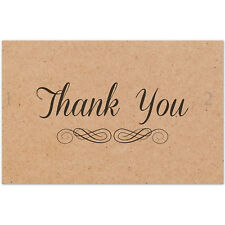 50 Thank You Kraft Paper Cards Cardstock 10x6.5CM Wedding Party Place Card Craft