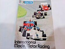 Scalextric Catalogo revista 15th Edición Internacional Modelo Motor Racing 1974
