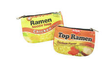 Top Ramen Coin Purse - Mini Money Travel Wallet Noodle Funny Food Gift College