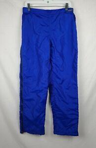 Patagonia Unisex Blue Full Fleece Lined Side Zipped Snow Ski Pants sz L