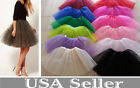Women/Adult Teen 3 Layer Tulle TUTU Skirt Organza Pettiskirt Ballet Dancewear