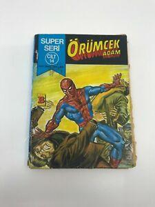 SPIDERMAN #27 #28 Turkish Comic Book 1980s MARVEL COMICS Ultra Rare PETER PARKER