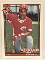 1991 Topps Eric Davis Baseball Card Mint Cincinnati Reds #550 MLB
