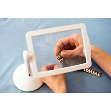NEW LED Magnifier Screen Magnifier Loupe With Light In White