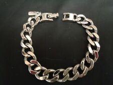 Vintage Signed MONET Silver Tone Curb Cuban Link Chain  Bracelet