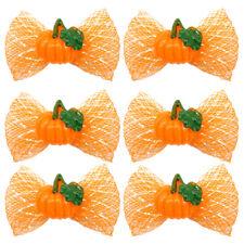 100pcs Dog Hair Bows Halloween Thanksgiving Glitter Pumpkin Grooming Accessories