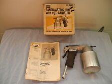 VINTAGE SEARS 1 QUART MEDIA SAND BLAST GUN WITH BOX AND INSTRUCTIONS