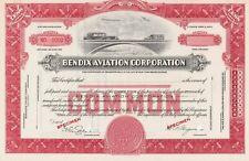 BENDIX AVIATION CORPORATION SPECIMEN STOCK CERTIFICATE SCARCE EARLY FLIGHT 1920S