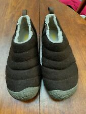 KEEN CUSH WOMEN HOWSER II BROWN FELT QUILTED BOOTIES SLIP ON SHOES LOAFERS 8