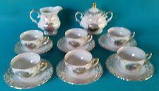 Service a café porcelain german manufacture a.d.p scenery medieval *