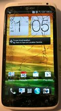 [BROKEN] HTC One X 16GB White (AT&T) Smartphone Fast Ship Repair Parts CRACKED