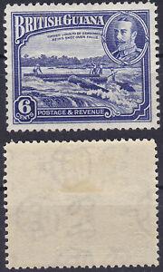 British Guiana 1934 6 Cents Sc-214 KGV Shooting Logs over Falls MLH - US Seller