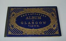 ORIG 1890S LEPORELLO ALBUM OF GLASGOW VIEWS IN ORIG BINDINGS