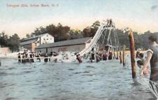 Toboggan Slide, Sylvan Beach, New York Swimming Pool 1913 Vintage Postcard