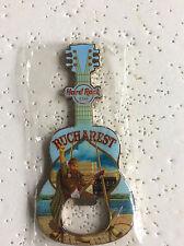 Hard Rock Cafe Bucharest Bottle Opener Magnet Guitar Shape