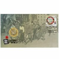 2018 End of World War I 100th Anniversary Stamp and Coin Cover