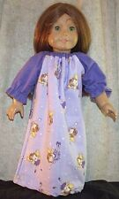 "Doll Clothes Made 2 Fit American Girl 18"" inch Nightgown Fairie Lavender Flannel"