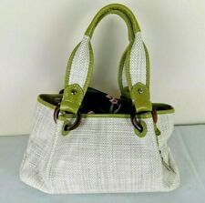 Fossil Small Handbag White Green Shoulder Bag Magnetic Closure Boho Casual