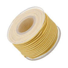 1.5mm Round Waxed Cotton Beading Cord Off White - 10 metre Spool (M66/1)