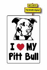 I love my Pitt Bull Decal/Sticker Silhoutte Adopt Pittie