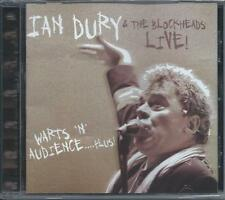 Ian Dury & The Blockheads - Live - Warts 'N' Audience...Plus! CD NEW/SEALED